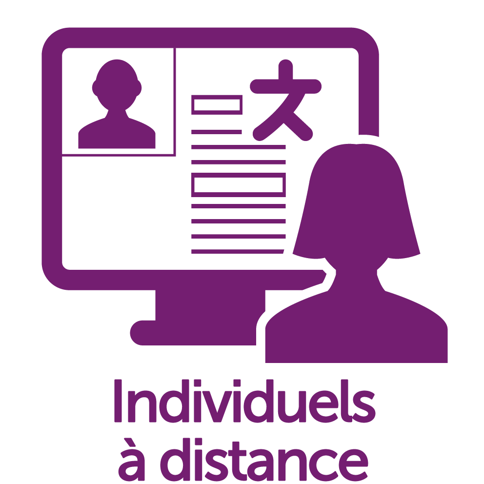 Cours individuels Distance